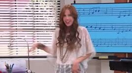 Camila singing in the music room