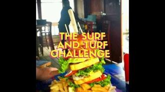 William's Dad takes The Surf N Turf Challenge at Crabby Joe's