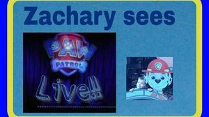 Zach Attack Zachary goes to see Paw Patrol Live Part 1