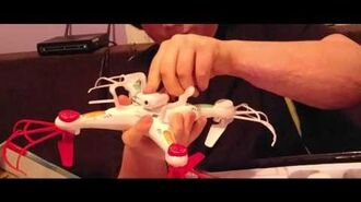 William unboxes Striker Spy Drone that he received for Christmas
