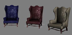 Wing back chair preview 1
