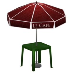 Cafe table preview