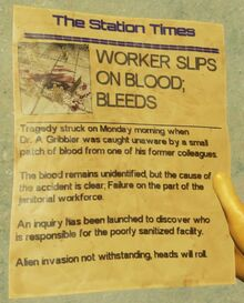 Worker Slips on Blood; Bleeds