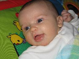 File:Baby-girl-5-five-weeks-old-on-playmat-play-gym-closeup-1-JR.jpg