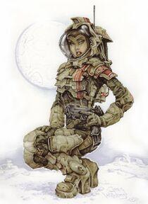 Space woman by planetdarkone-d2adqfl