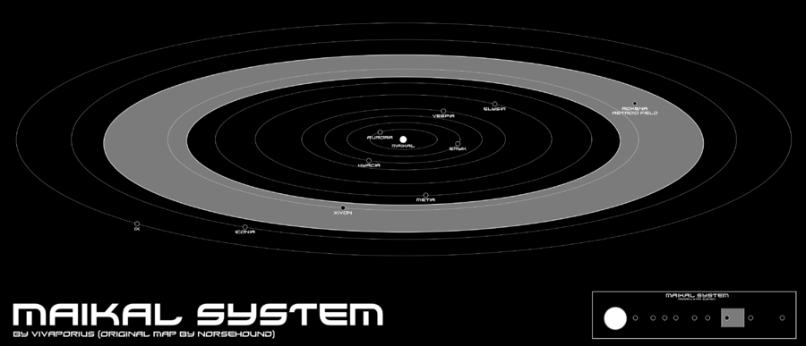 Map of the Maikal System