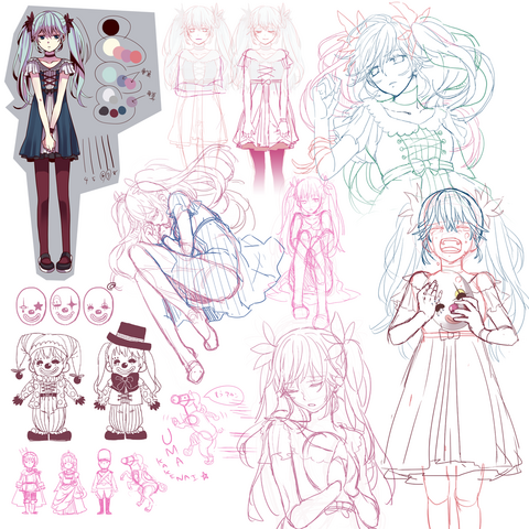 File:Karakuri Pierrot sketches.png