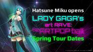Hatsune Miku Artpop Promo Poster