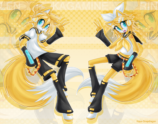 File:Rin and len sonic style avatar.png
