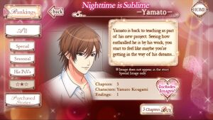 Nighttime is Sublime -Yamato- Info