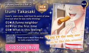 His PoV - Main Story - Izumi Takasaki - Profile