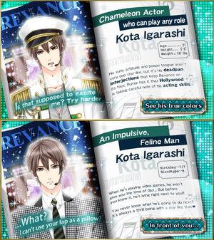 Kota Igarashi - Profiles