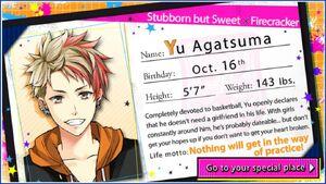 Yu Agatsuma - Profile