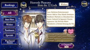 Heavenly Pleasures from the 12 Gods -Wishes- Infobox