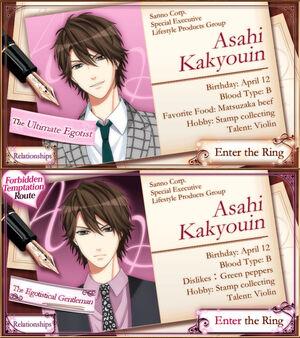 Asahi Kakyouin - Profiles
