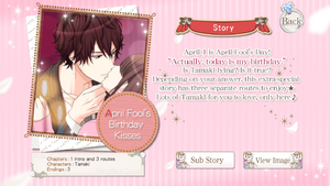 April Fools Birthday Kisses info