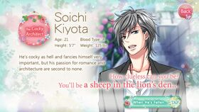 Soichi Kiyota character description (1)