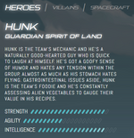 Official stats - Hunk