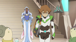 39. Pidge walking away from a stunned Allura