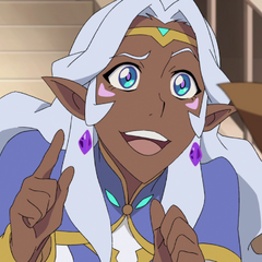 Allura trying to coax Pidge into revealing she's a girl.