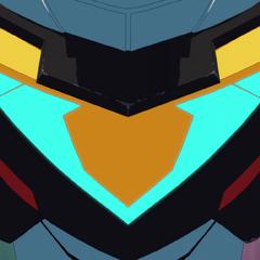 Black Lion (Voltron's) chest detail.