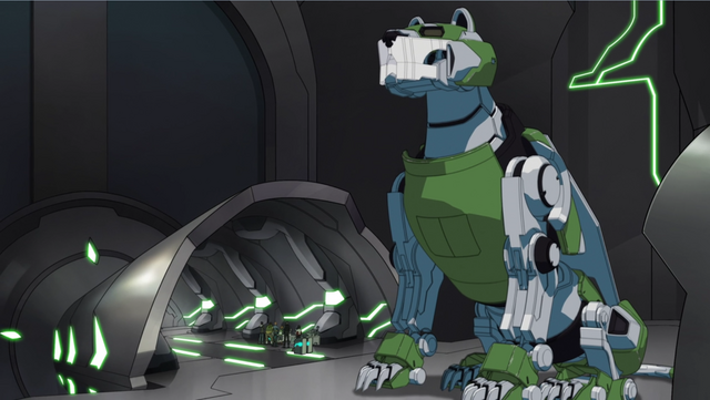 File:S2E04.79. Green Lion inactive in hir hangar again.png