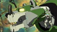 S2E01.263. Pidge next to Green Lion's head