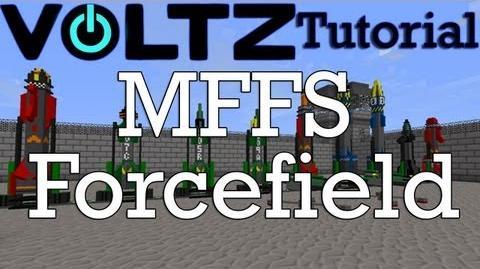 Minecraft Voltz - How to set up a MFFS Forcefield Updated