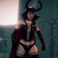 The Dominatrix in cutscene for unknown mission