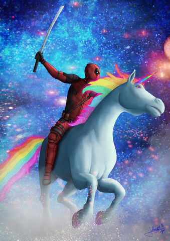 File:Deadpool rides a unicorn.jpg