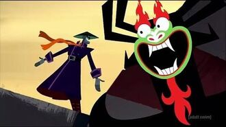 Samurai Jack - Aku Kills the Scaramouche & is the Biological Father of Ashi (Clip) S5E9 C