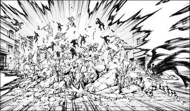 Dorso firing off a ki blast