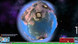 Destroying a Planet in Spore- Planet Buster Bomb in HD