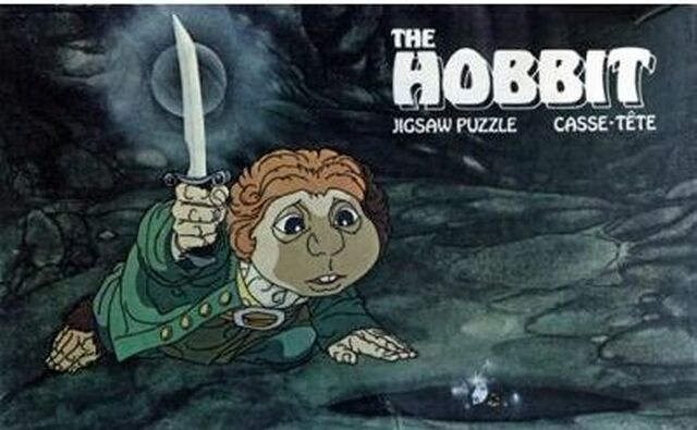 File:Puzzles Hobbit Rankin Bass Bilbo Baggins Finds Rind NBC 1977 200pcs.jpg