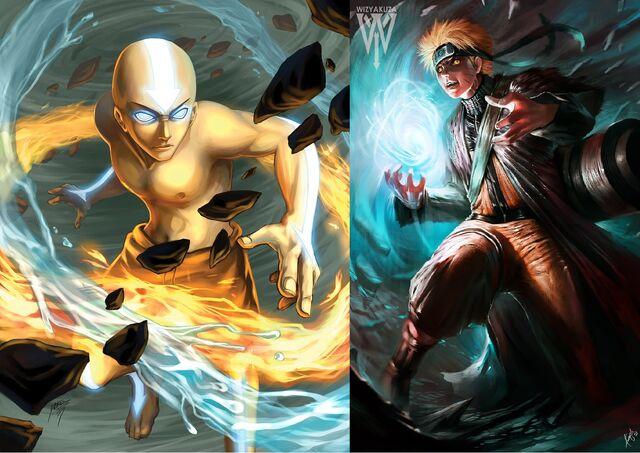 File:Aang vs Naruto.jpg
