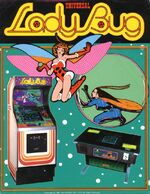 Lady Bug arcade flyer