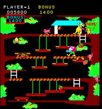 Kangaroo arcade screenshot