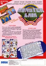 Wonder Boy in Monster Lair arcade flyer