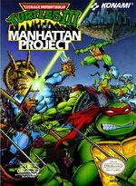 Teenage Mutant Ninja Turtles 3 The Manhattan Project NES cover