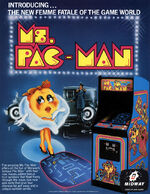 Ms Pac Man arcade flyer