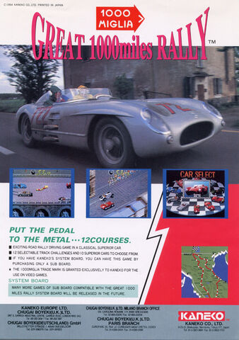File:Great 1000 Miles Rally arcade flyer.jpg