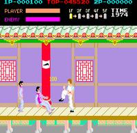 Kung Fu Master arcade screenshot