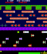 Frogger arcade screenshot