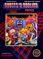 Ghosts n Goblins NES cover