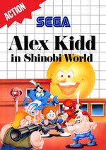 Alex Kidd in Shinobi World SMS box art