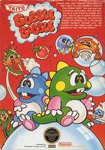 Bubble Bobble NES cover