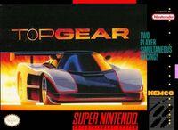 Top Gear SNES Cover