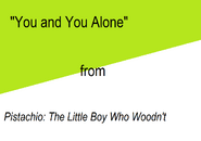 You and You Alone title card