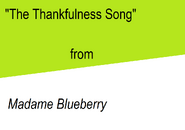 Thankfulness Song title card