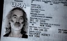Jeffrey Leclair's Fake Passport